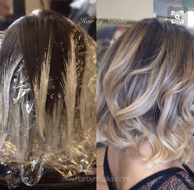 Ombre Brown To Blonde Short Medium Haircut Hairstyle Bleaching Balayage Hair Short Hair Balayage Hair Styles