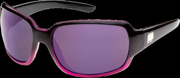 53ca9369eec SunCloud Women s Cookie Polarized Sunglasses Black Purple Fade Purple  Mirror Polar Poly
