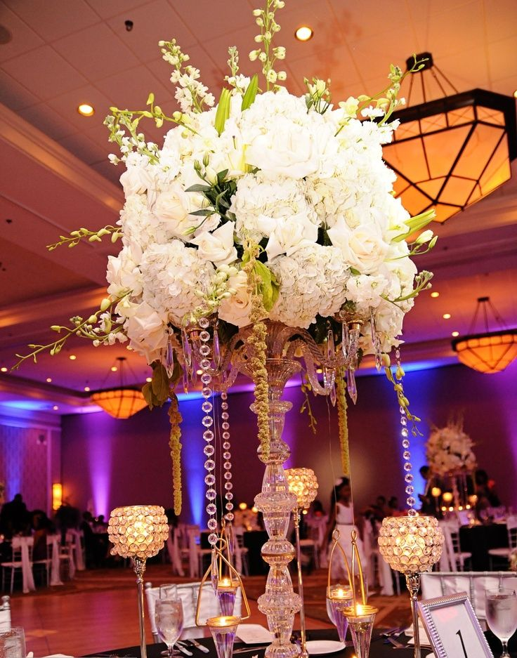 Tall Bling Wedding Centerpieces Google Search