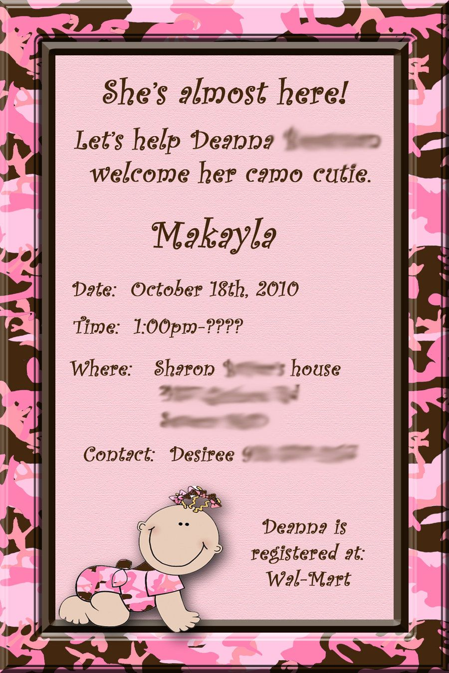 example of an baby shower flyer | For all type baby a Work Baby Shower Invitation Wording baby ...