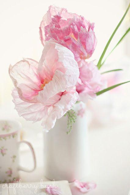 Realistic Crepe Paper Flower Paper Flowers Diy Paper Flowers