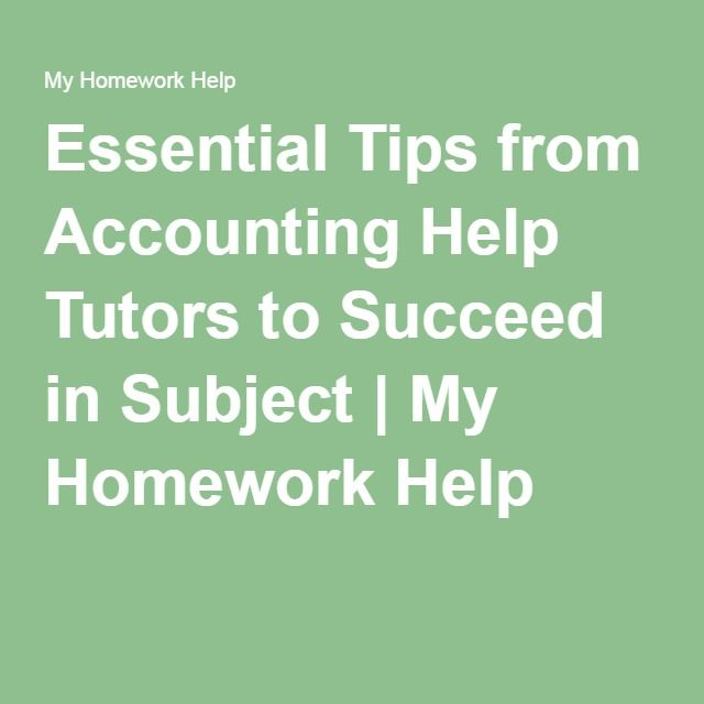 Accounting help homework tutor
