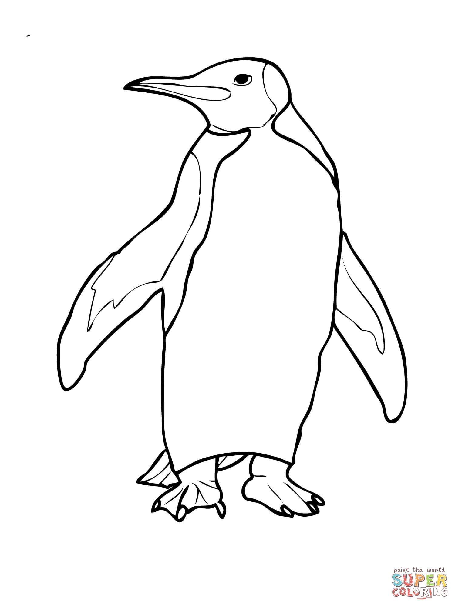 King Penguin Coloring Page | penguin doodle in 2018 | Pinterest ...