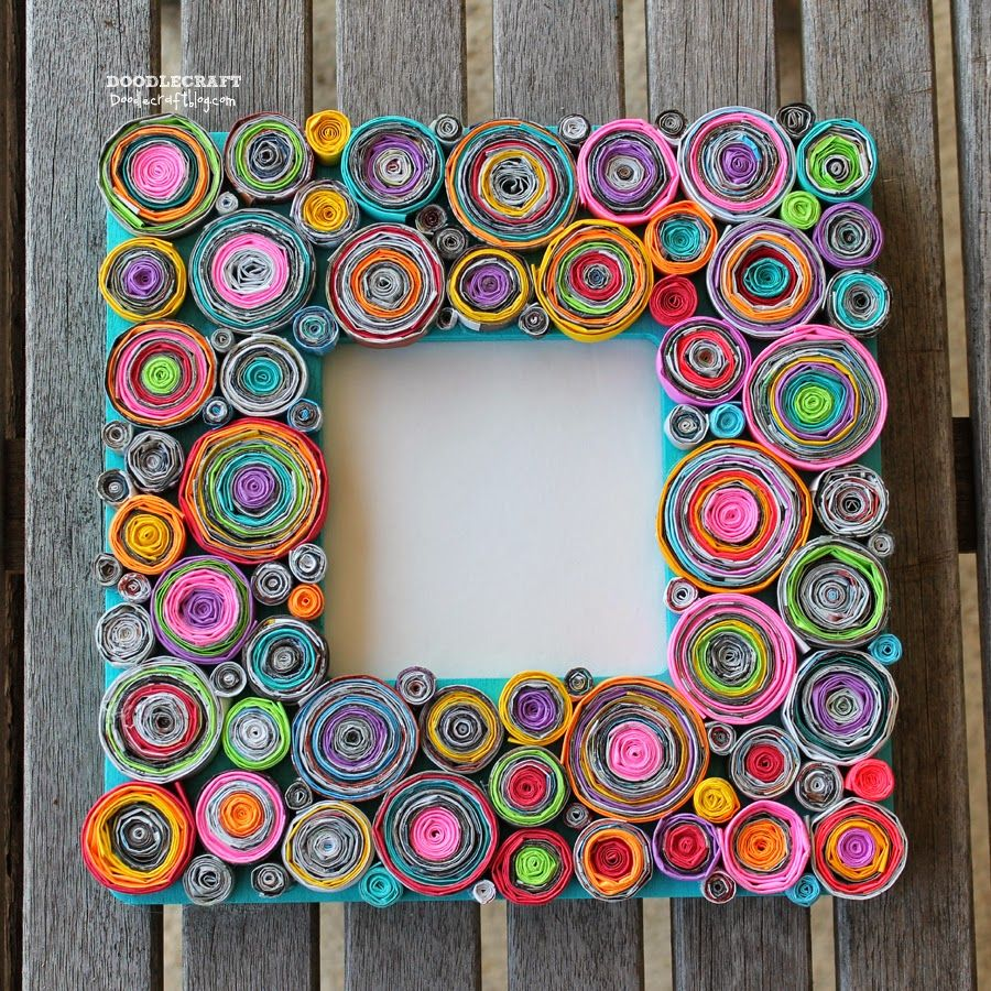 Upcycled Rolled Paper Frame Diy Craft Artigianato Giornale