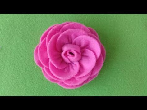 Cara Membuat Bunga Mawar Dari Kain Flanel How To Make Felt Rose Youtube Bunga Kain Tenun Bunga Bunga Kain