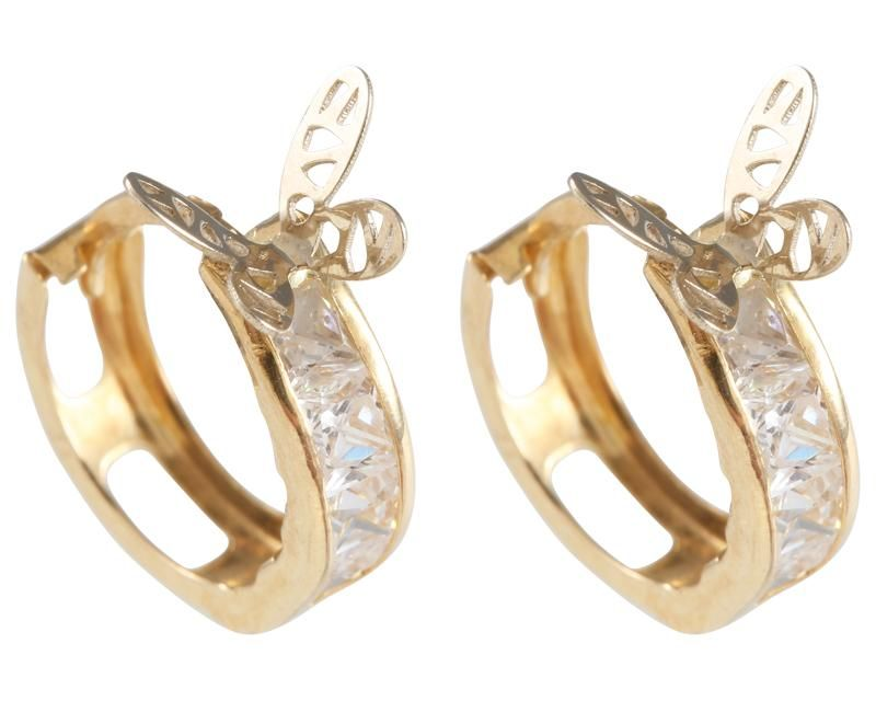 selección premium c0d78 2ce9d Aretes de mariposa Oro 14 quilates   Aretes, Joyas y Oro