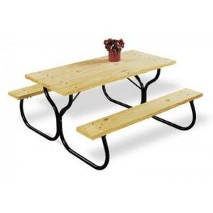 Worldwide Sourcing FC Black Picnic Table Frame Kit Home - Metal picnic table frame kit