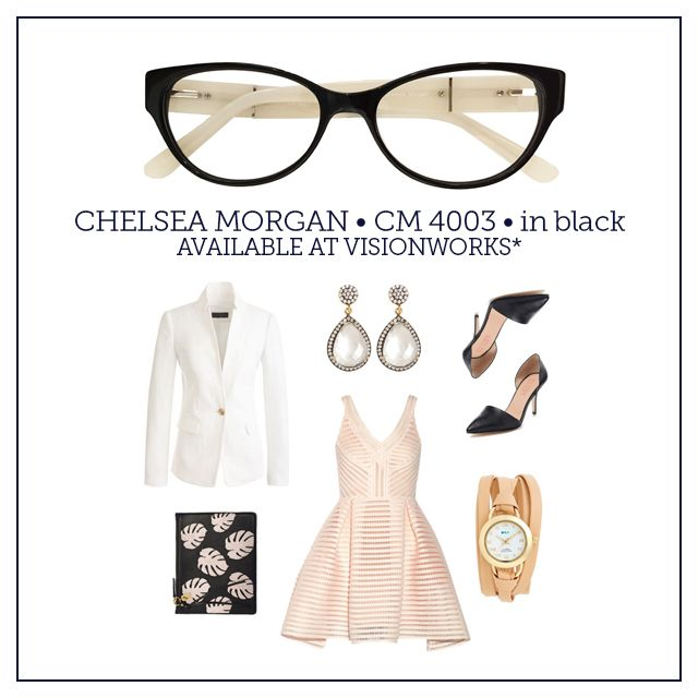 These Chelsea Morgan frames in black complete a chic, sophisticated ...