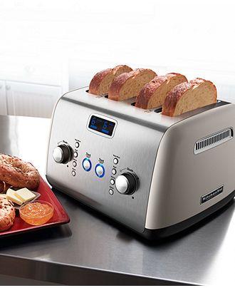 macys kitchen aid appliances brooklyn kitchenaid kmt423cs toaster architect digital 4 slice electrics macy s