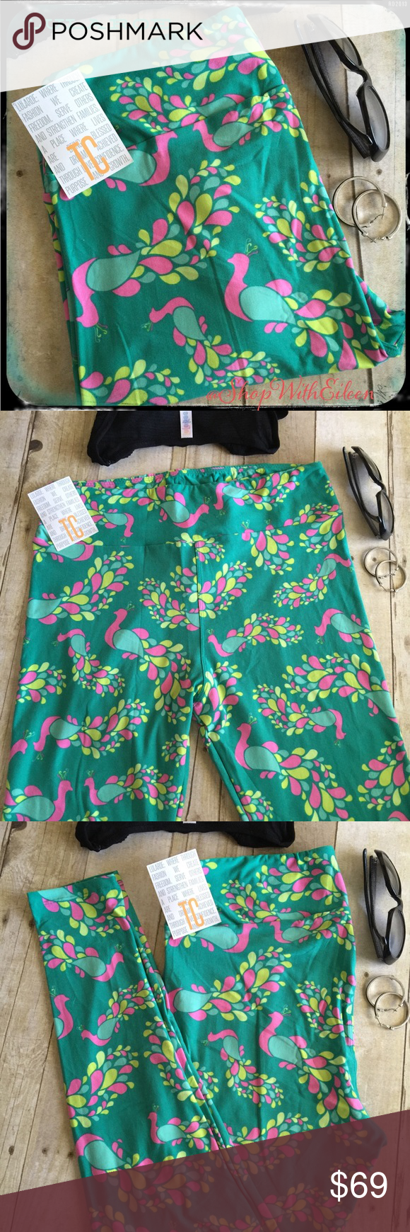 🆕 LulaRoe AQUA HOT PINK PEACOCK TC Leggings! 🆕 LulaRoe AQUA HOT PINK PEACOCK TC Leggings! 💗 AQUA background with  Hot pink chartreuse and mint peacock design! YES! PEACOCKS! 💗💚Very sought after NEW print & hard to find! These are made in China. I am not a consultant… I am just a LulaRoe addict and love the hunt to find great prints! Enjoy! 🦄🦄🦄 {$25 is not an acceptable offer} LuLaRoe Pants Leggings