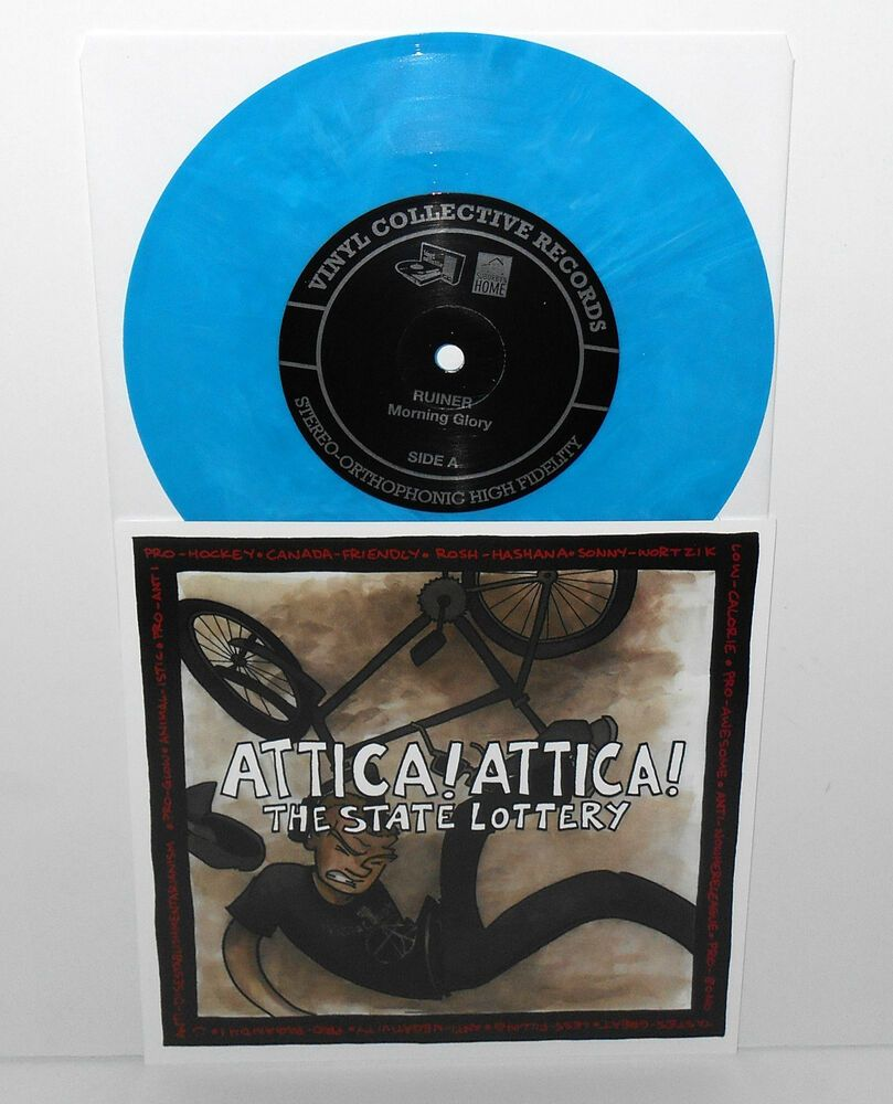 Ruiner Plays Oasis Attica Attica Plays Propagandhi Split 7 Record Blue Vinyl Punkpunknewwave Blue Vinyl Vinyl Records Vinyl