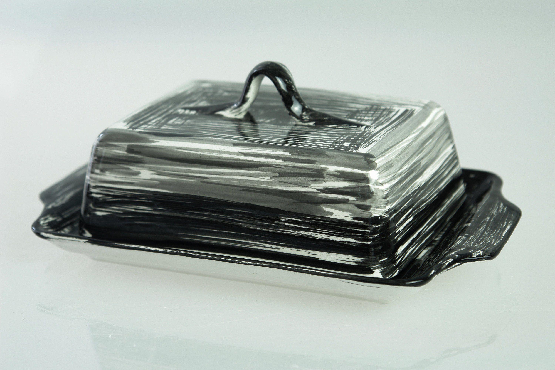 Küchendesign für bungalowhaus butter jar butter bowl ceramic  g  sol negro in   geschirr