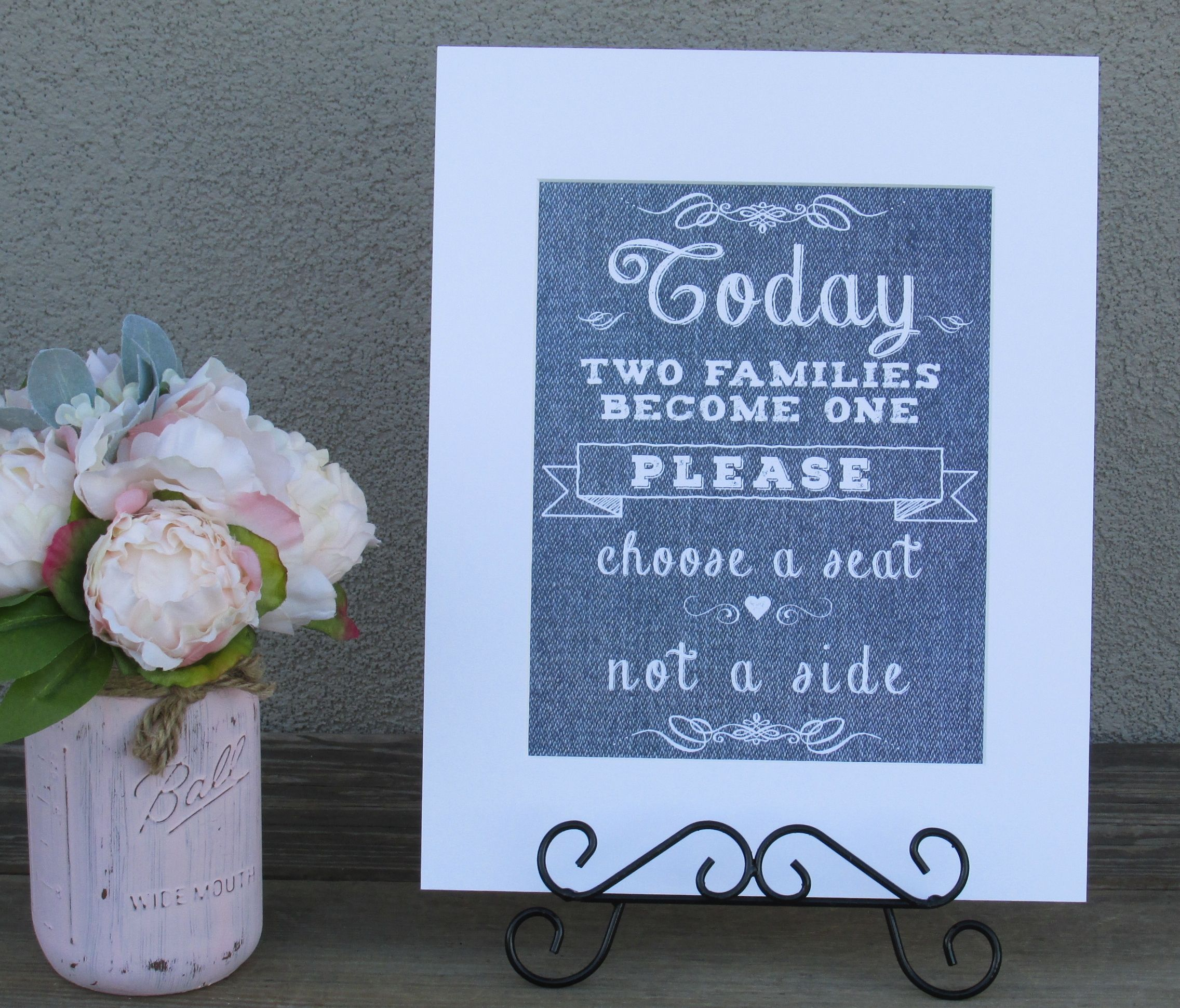 https://www.tradesy.com/weddings/wedding-decorations/light-blue-denim-look-wedding-signs-will-be-perfect-for-a-burlap-lace-and-denim-wedding-2032004/  #blue #bluewedding #bluethemedwedding #weddingdecor #denim #rustic #wedding #cute #classy  #seatingchart #todaytwofamiliesbecomeone