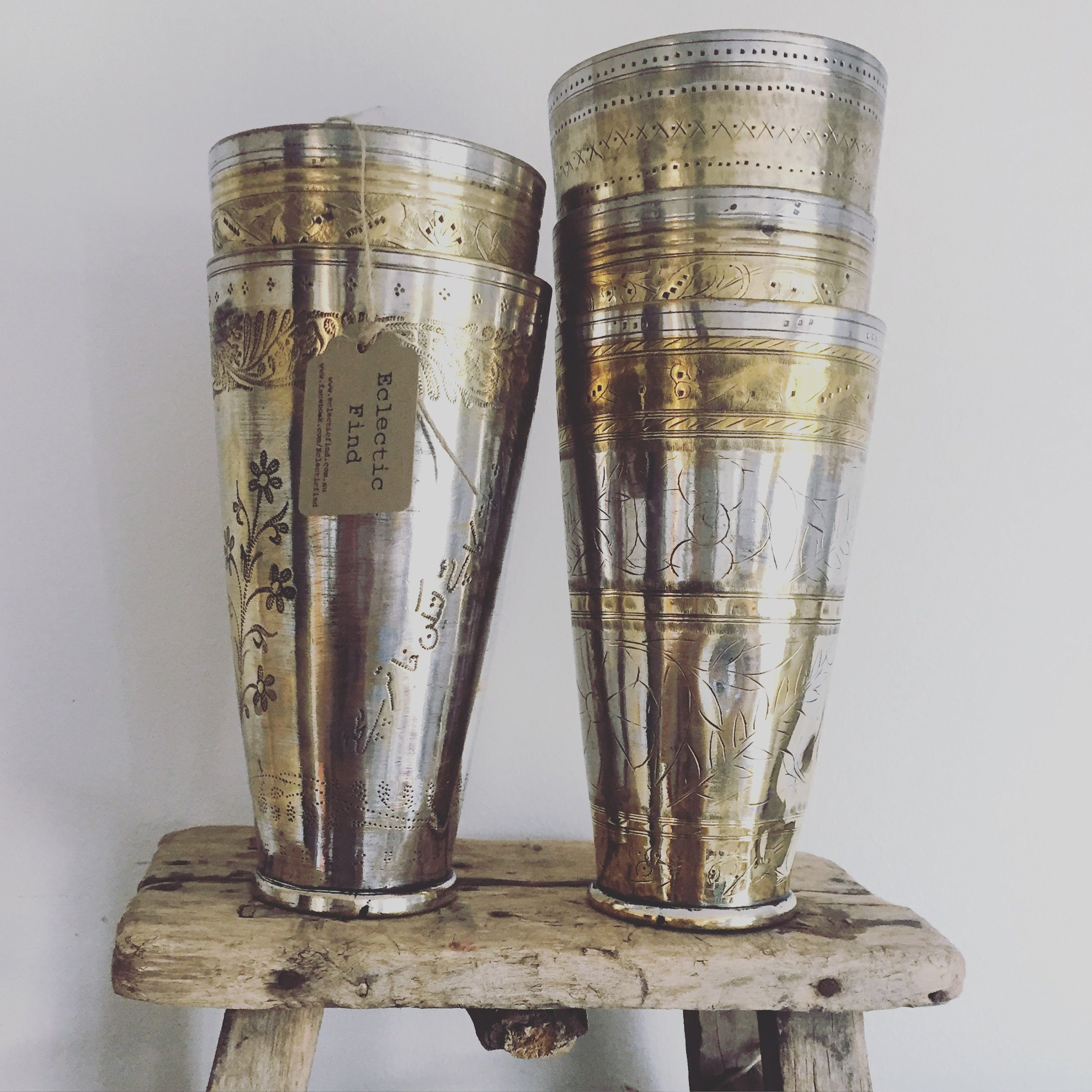 Vintage lassi cups