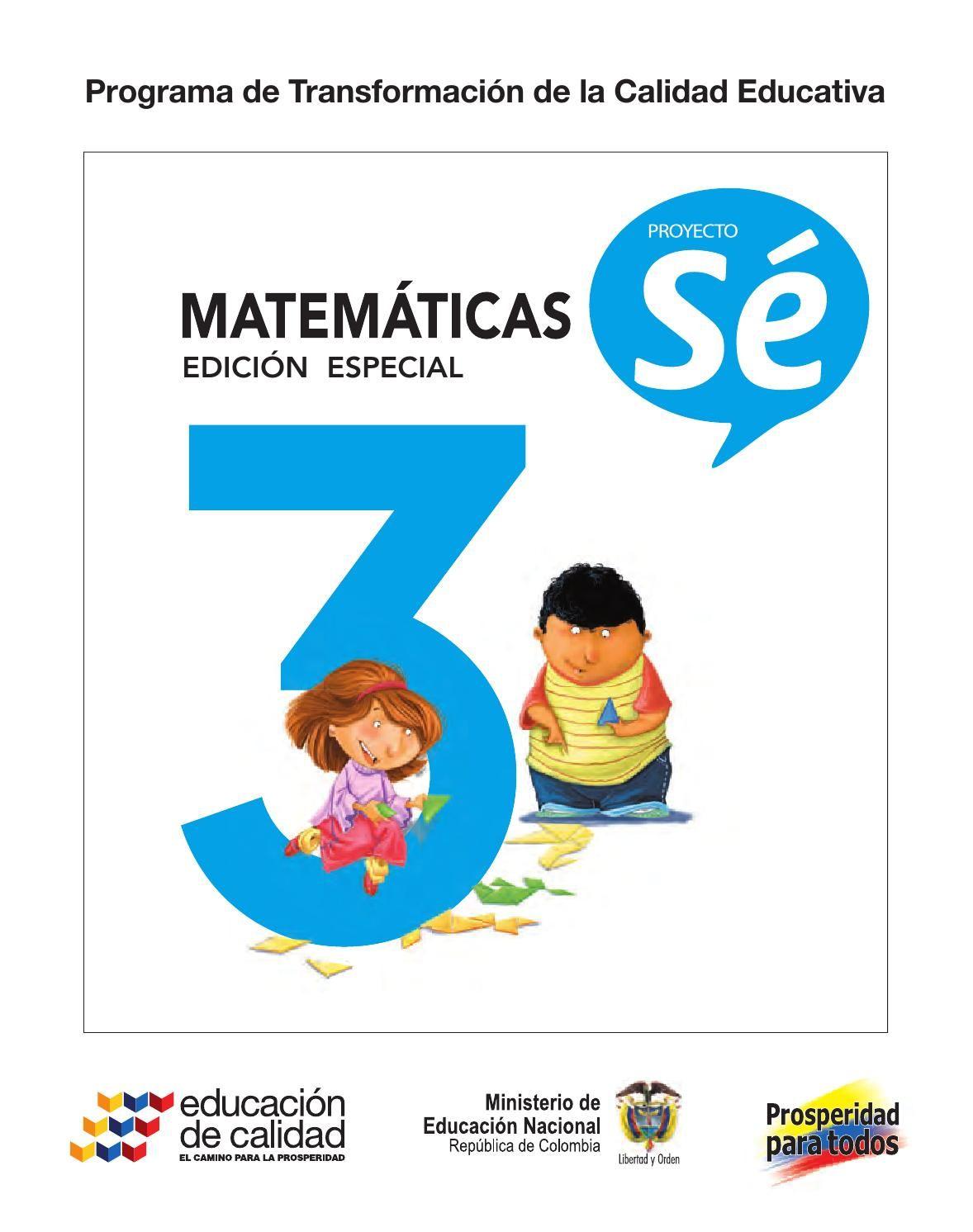 3° matemáticas libro estudiante | Libros de tercer grado