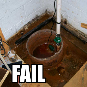 Philadelphia PA Water Damage Philadelphia PA: Rain Water Subpump Overflow Basement  Water Pump Ou.