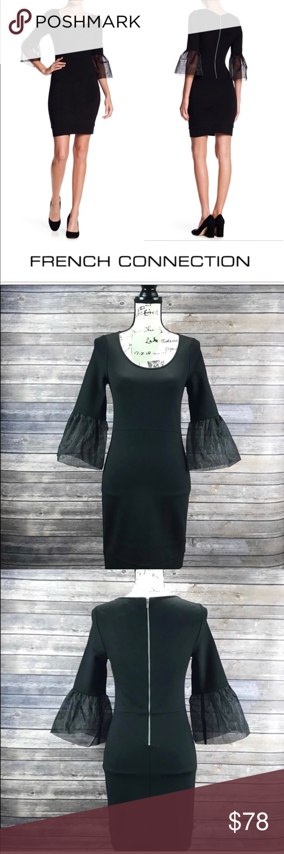 88ba9b4548b NEW French Connection Lula Bell Fitted Dress FRENCH CONNECTION Lula Bell Is  a classic little black