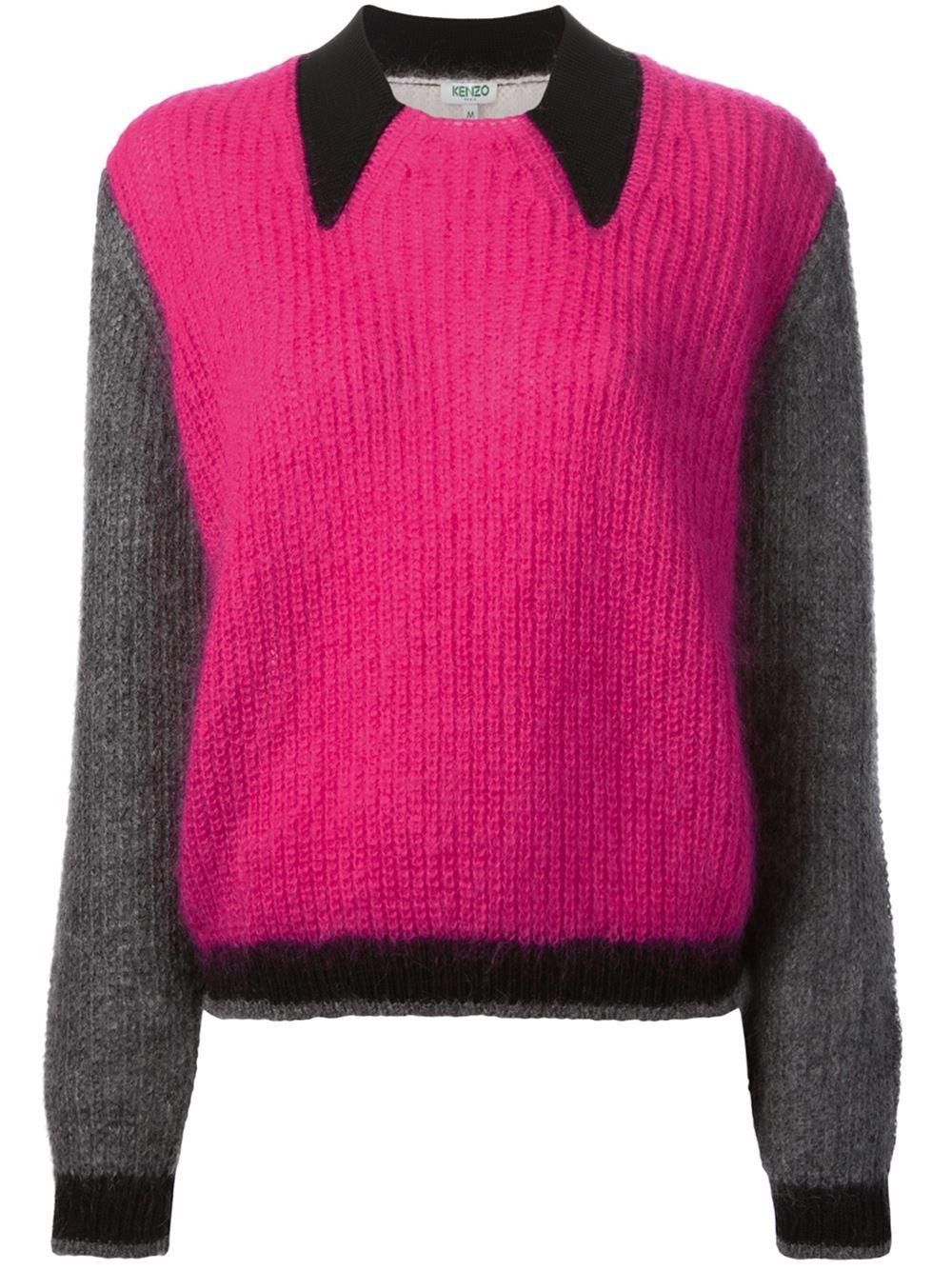6c223787 Kenzo Colour Block Sweater - - Farfetch.com   Разноцветное вязание ...