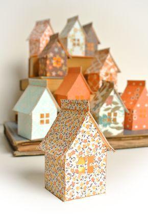 Idée passer une guirlande lumineuse dans chaque maison pour faire - faire une maison en 3d