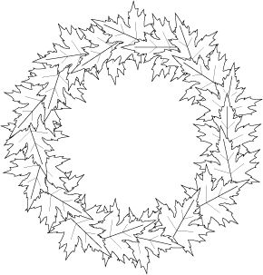 Maple Wreath Mbg1793 Coloring Pages Embroidery Patterns