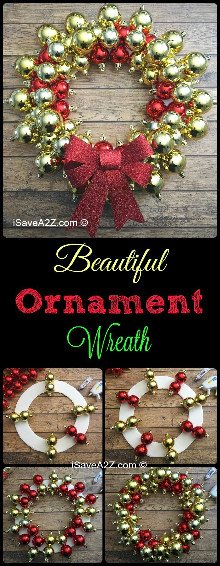 How to Make an Ornament Wreath | Christmas wreaths ...