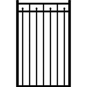 Allure Aluminum 3 Rail Provincial Aluminum Black Fence Walk Gate