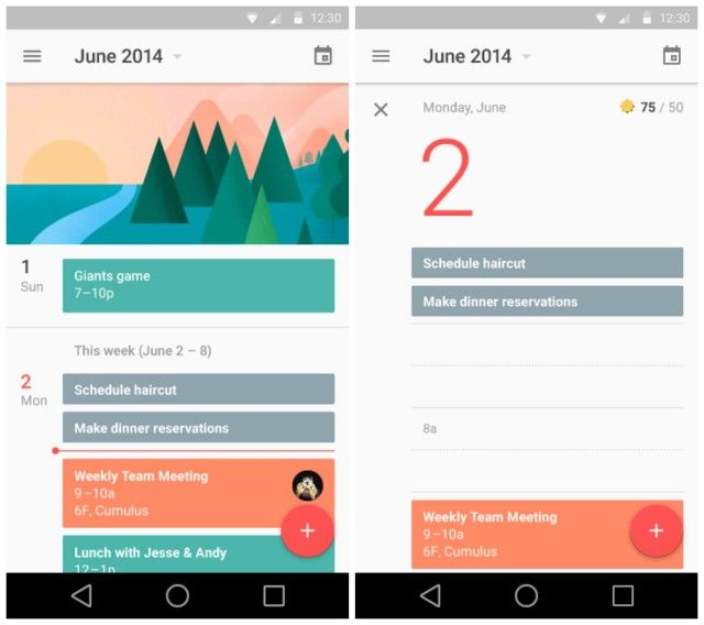 Google Calendar Was Shown Off In All Its Material Glory The App Is Clean And Really The Screenshots Do Material Design Google Material Google Material Design