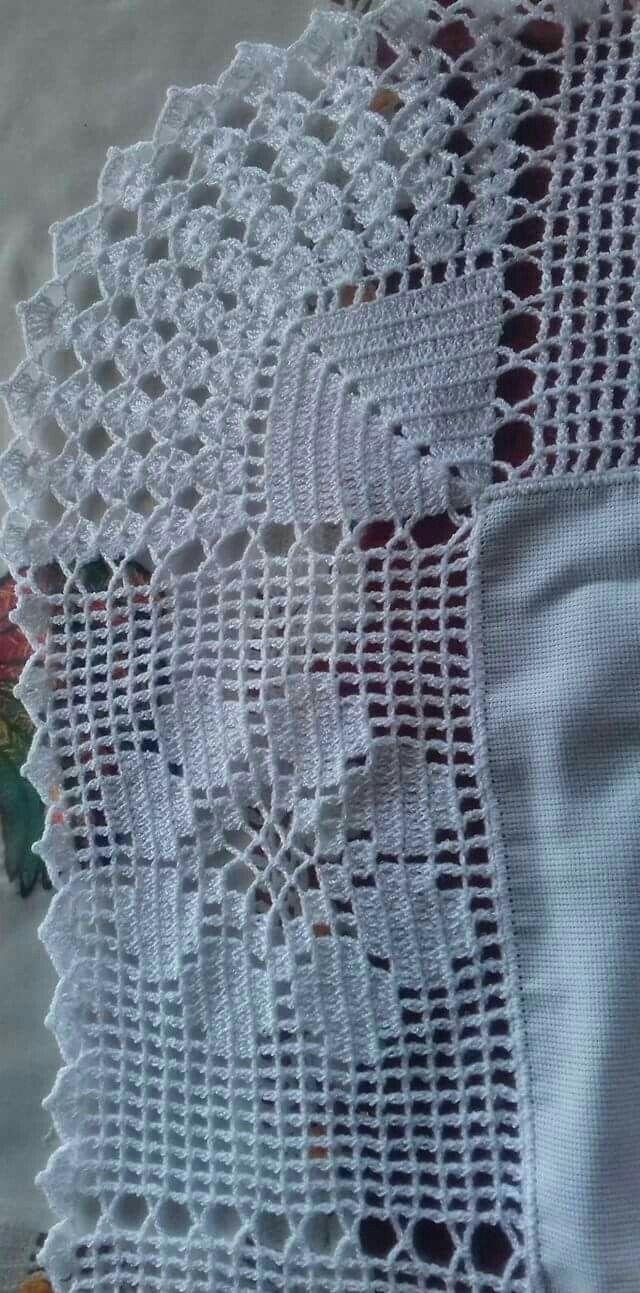 puntillas para almohadones | Bordes de ganchillo | Croché ...