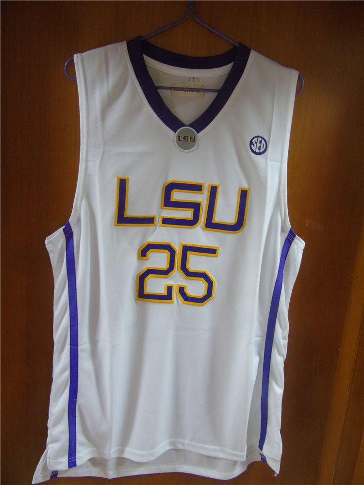 6dcf41deb1a Aembotionen Ben Simmons  25 LSU White Purple Yellow Retro Throwback Stitched  Basketball Jersey Sewn Camisa Embroidery Logos
