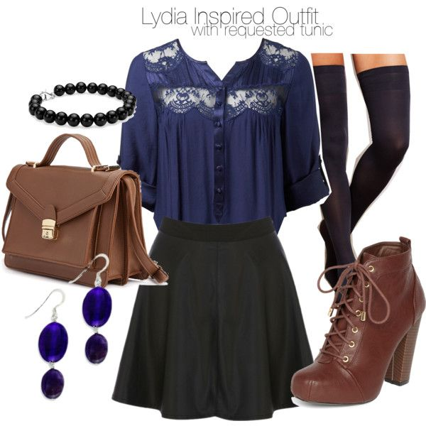 """""""Lydia Inspired Outfit with Requested Tunic"""" by veterization on Polyvore"""