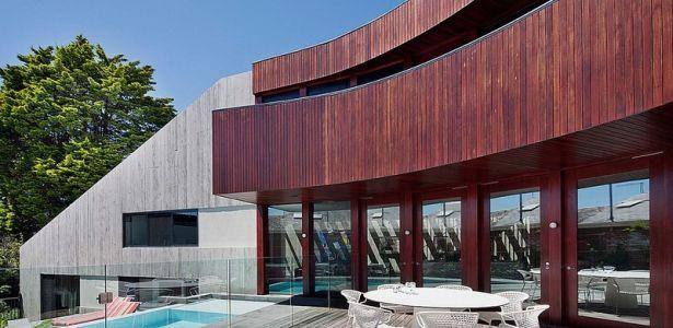 Maison contemporaine bois béton par BG Architecture - Melbourne