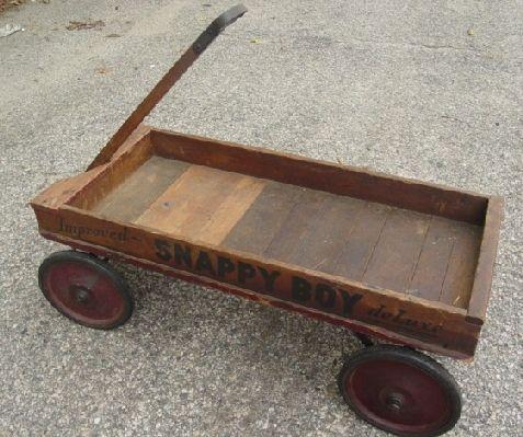 11 Antique Wooden Snappy Boy Child S Wagon On Wagon Children S