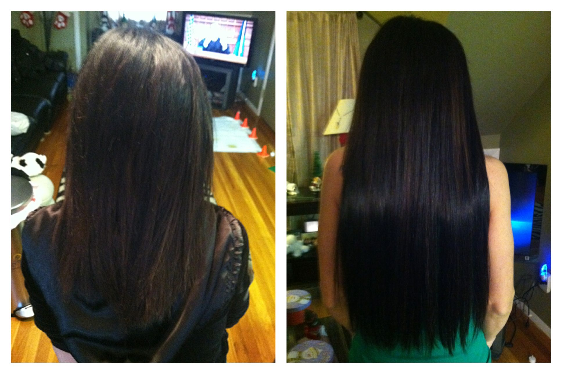 Before and after using beaded extensions in soft black and darkest before and after using beaded extensions in soft black and darkest brown what a makeover pmusecretfo Gallery