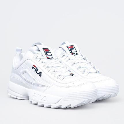 Женские кроссовки FILA DISRUPTOR 2 WHITE белые  c86743e6f25b8
