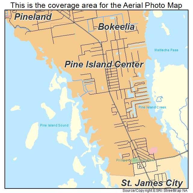 Map Of Pine Island Florida.Pine Island Florida Map Pine Island Center Fl Florida Aerial