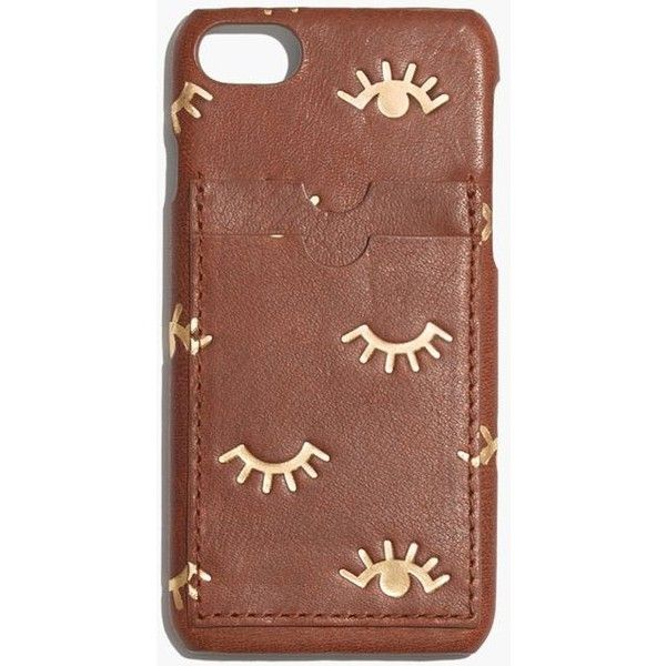 low priced 873cf 8ae1f MADEWELL Leather Carryall Case for iPhone® 7: Winking Eye Edition ...
