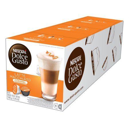Nescaf Dolce Gusto Caramel Latte Macchiato Coffee Pods, Espresso Roast, 24 Count (3 Packs of 8 Coffee + Latte Pods) #lattemacchiato