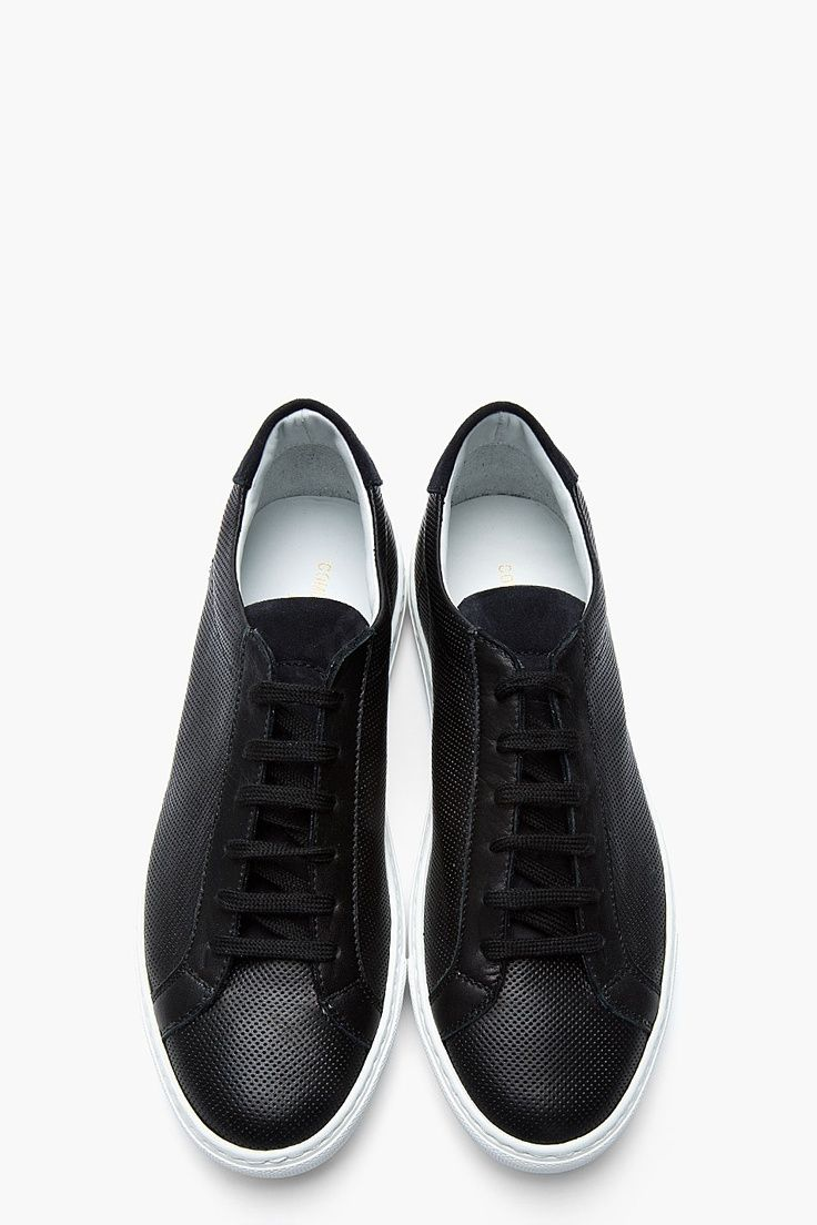 The Best Men s Shoes And Footwear   COMMON PROJECTS Black Perforated Leather  Summer Sneakers -Read More – 88c98b86c554