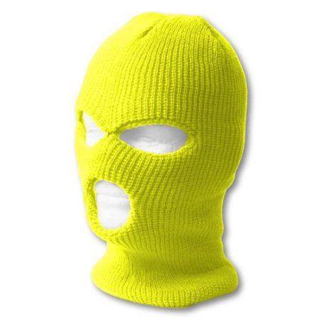 sports  outdoors  ski mask fashion neon yellow ski mask