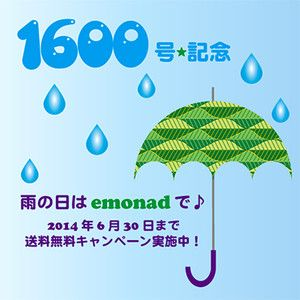 Rainy Season Special - To celebrate our 1600th blog post in the middle of rainy season, we offer free delivery till 30 June, 2014. Enjoy shopping on e-monad, our e-commerce site, on a rainy day!
