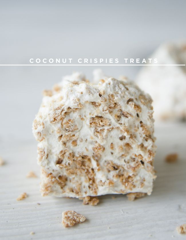 COCONUT CRISPIES TREATS - The Kitchy Kitchen