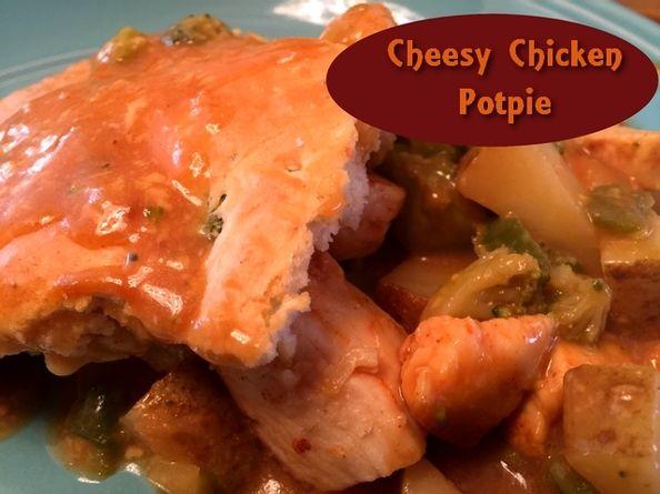 Cheesy Chicken Pot Pie http://www.momspantrykitchen.com/cheesy-chicken-pot-pie.html