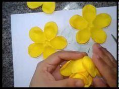 Rosa Conjugada Passo A Passo Youtube Flores De Papel Artesanal