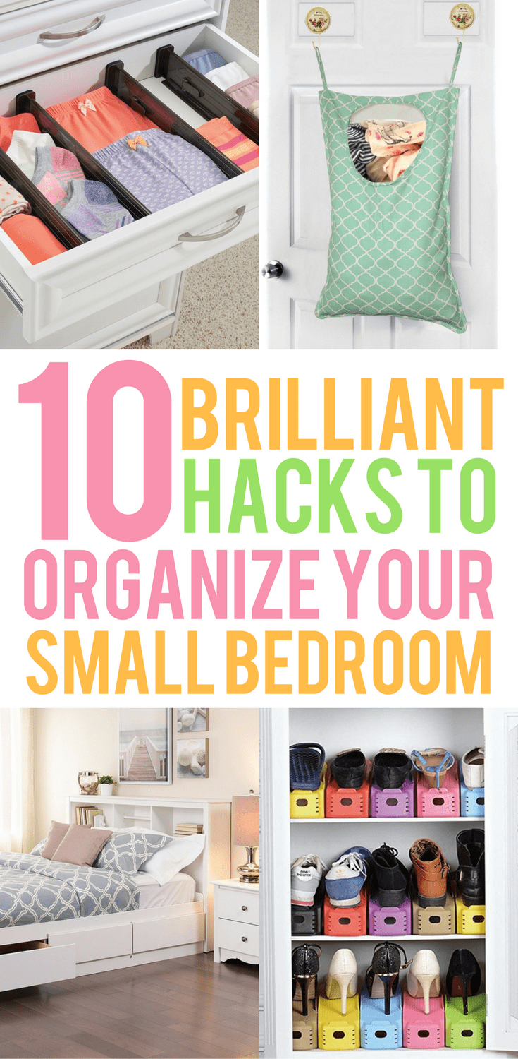 10 Amazon Finds That Will Organize Your Small Bedroom is part of bedroom Organization Declutter - Are you struggling to organize your small bedroom and fit everything you need  Here are 10 ways to successfully organize your small bedroom