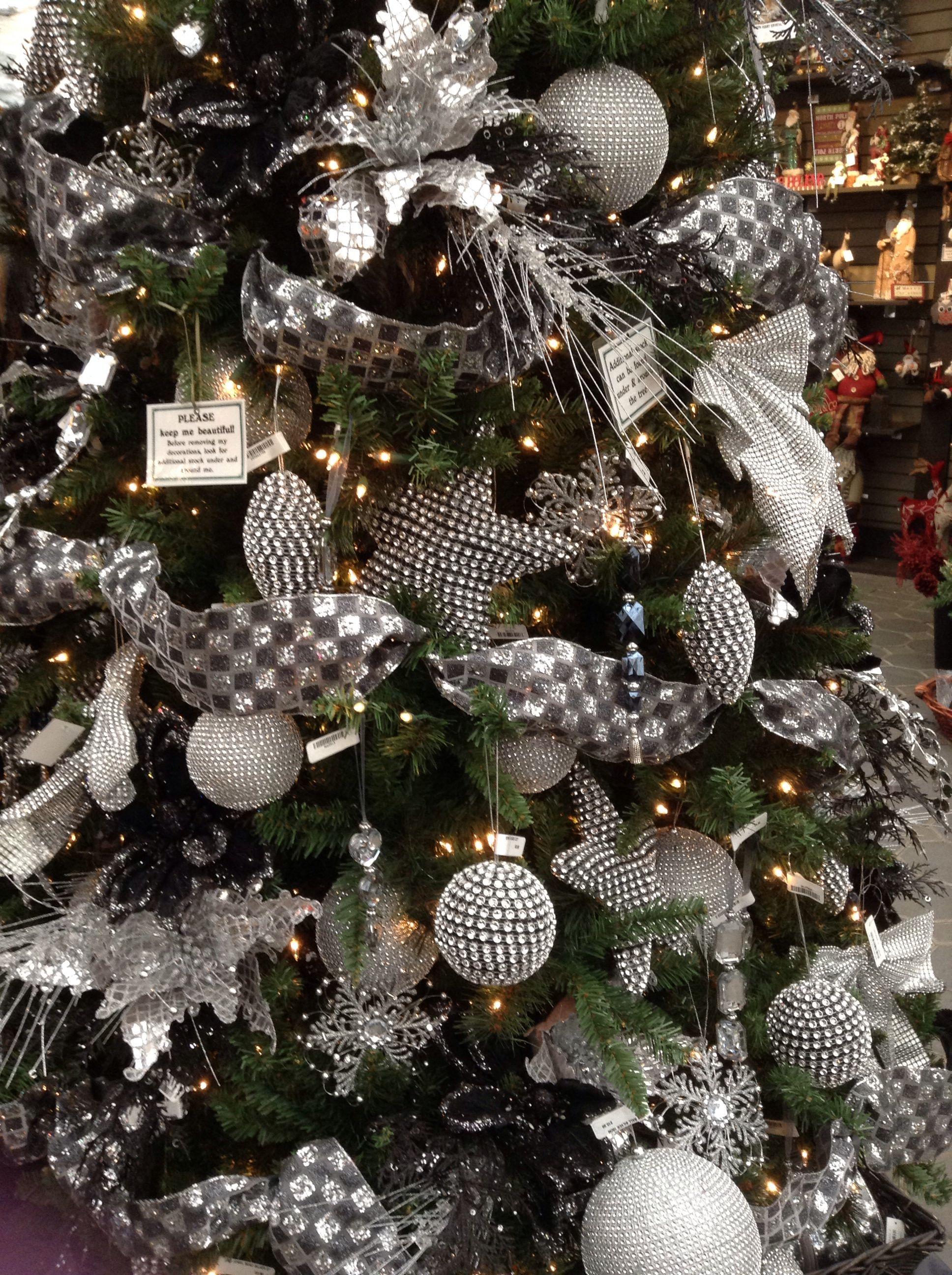 Silver Christmas Tree Black Christmas Trees Grey Christmas Tree Black Christmas Decorations