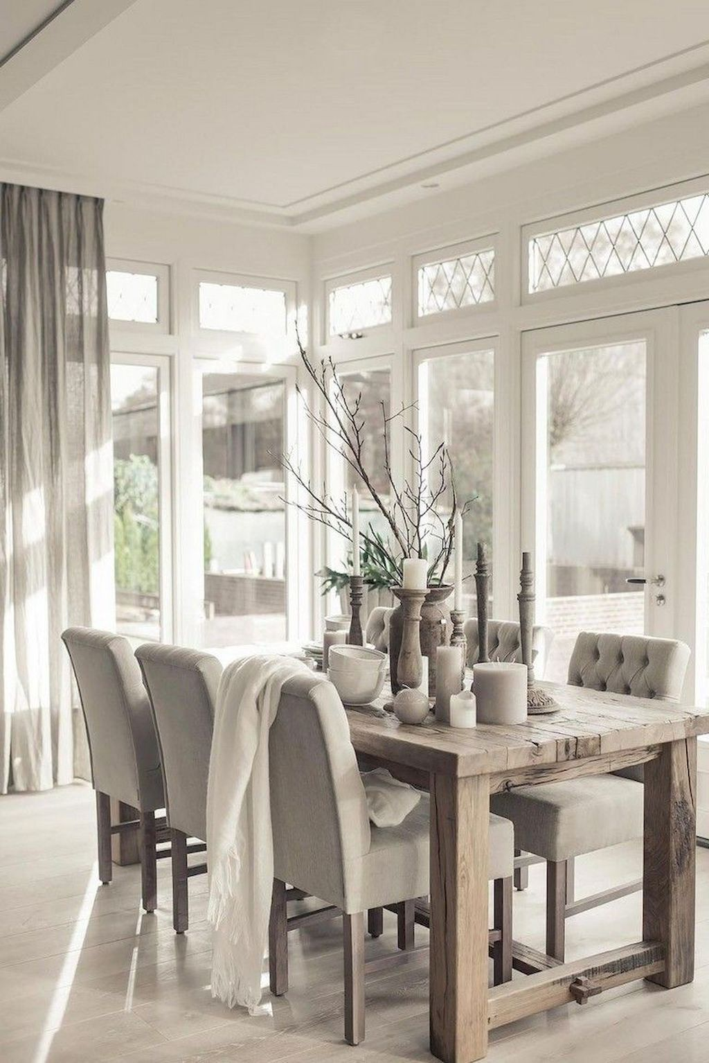 75 Modern Farmhouse Dining Room Decor Ideas Homespecially In