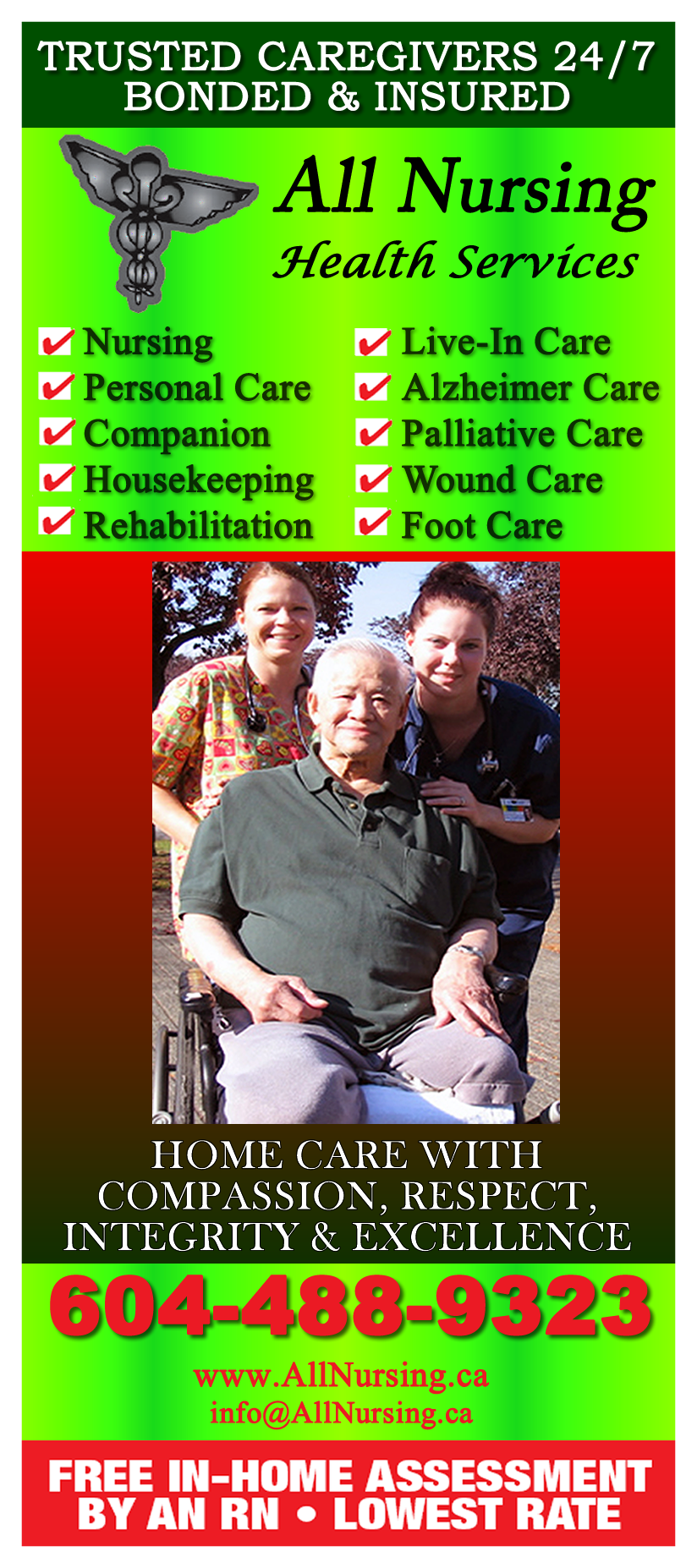 All Nursing Health Services Inc is Vancouver based home