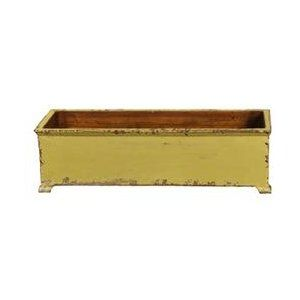 Large French Rectangular Planter With Wooden Legs Butter Planter