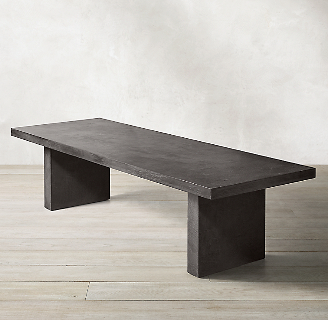 Cabrera Concrete Rectangular Dining Table Dining Table