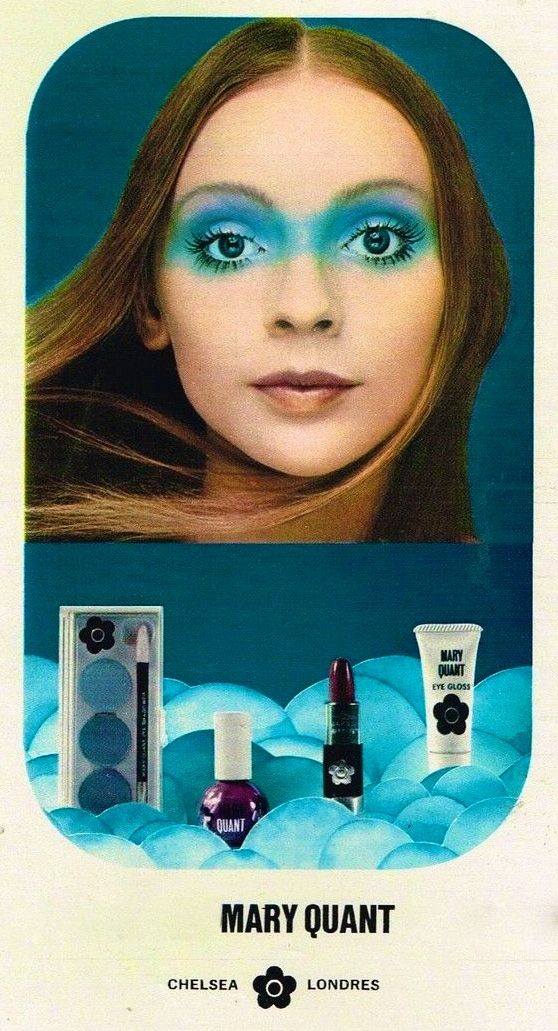 Mary Quant Cosmetics Ad I tried this 'look' funny it